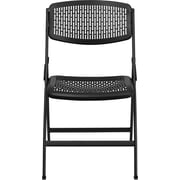 Flash Furniture HERCULES Series 990 lb. Designer Comfort Molded Folding Chair, Black, 60/Pack