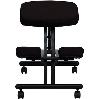 Flash Furniture Fabric Ergonomic Kneeling Chair With Black Frame, Black