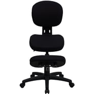 Flash Furniture Fabric Ergonomic Kneeling Posture Task Chair With Back, Black