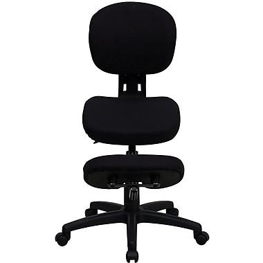 Flash Furniture Ergonomic Fabric Kneeling Posture Task Chair, Armless, Black