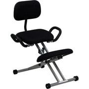 Flash Furniture Kneelling Fabric Kneeling Office Chair, Armless, Black (WL3439)