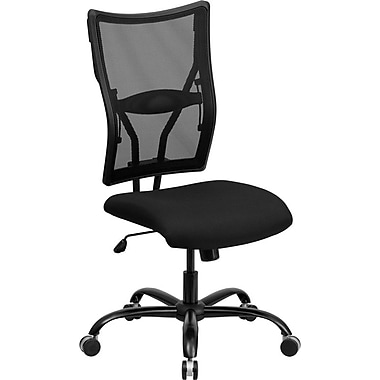 Flash Furniture HERCULES™ Big and Tall Mesh Office Chair Without Arms, Black