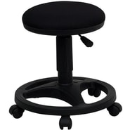 Flash Furniture Fabric Ergonomic Stool With Foot Ring, Black