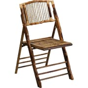 Flash Furniture American Champion Folding Chair, Bamboo, 48/Pack