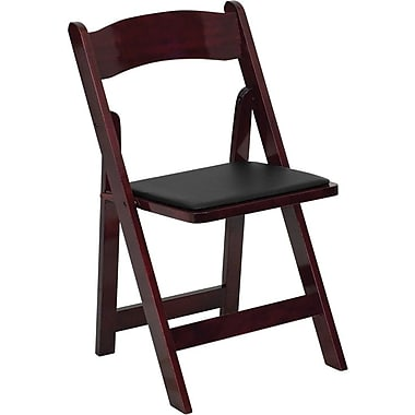 Flash Furniture HERCULES™ Wood Armless Folding Chair, Mahogany, 4/Pack