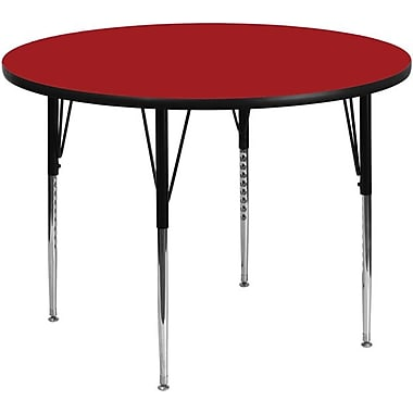 Flash Furniture 42'' Round Activity Table with Thermal Fused Laminate Top and Standard Height Adjustable Legs, Red