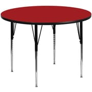 Flash Furniture 60'' Round Activity Table with Thermal Fused Laminate Top and Standard Height Adjustable Legs, Red