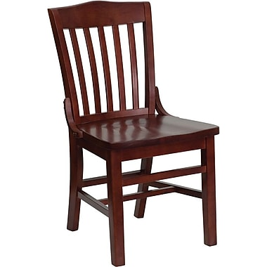 Flash Furniture HERCULES™ Wooden School House Back Restaurant Chair, Mahogany, 4/Pack