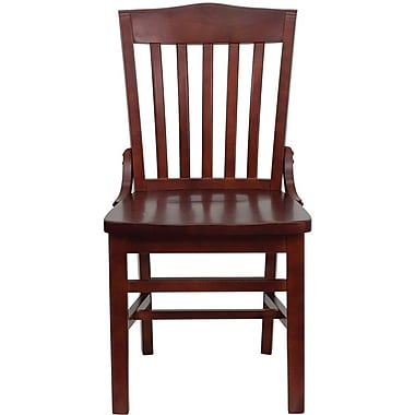 Flash Furniture HERCULES Series School House Back Wooden Restaurant Chair, Mahogany, 12/Pack