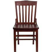 Flash Furniture HERCULES Series School House Back Wooden Restaurant Chair, Mahogany, 8/Pack