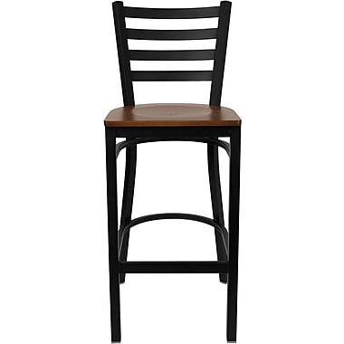 Flash Furniture HERCULES™ Wood Ladder Back Metal Restaurant Bar Stools