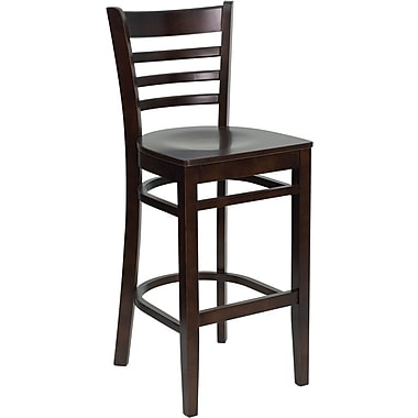 Flash Furniture xU-DGW0005BARLAD-WAL-GG Bar Stool, Walnut