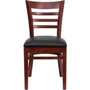 Flash Furniture HERCULES™ 2/Pack Wood Vinyl Ladder Back Restaurant Chairs