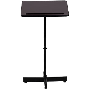 Flash Furniture Adjustable Height Metal Lectern, Mahogany