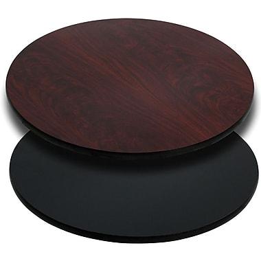 Flash Furniture 36'' Round Laminate Table Top, Black/Mahogany (XURD36MBT)