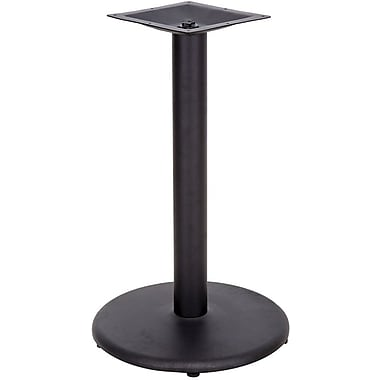 Flash Furniture 24'' Round Cast Iron Restaurant Table Base with 4'' Dia. Table Height Column, Black