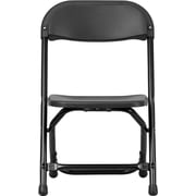 Flash Furniture Kids Plastic Folding Chair, Black, 40/Pack