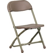 Flash Furniture Kids Plastic Folding Chair, Brown, 20/Pack