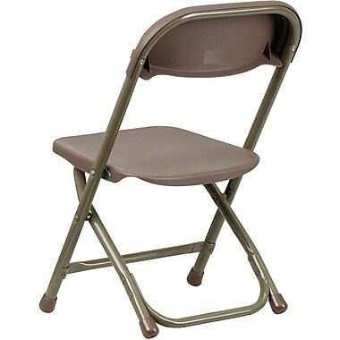 Flash Furniture Kids Plastic Folding Chair, Brown, 20/Pack