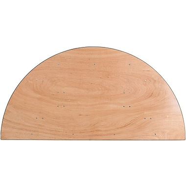 Flash Furniture 72'' Half-Round Wood Folding Banquet Table, Plywood