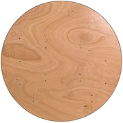 Flash Furniture 48'' Round Wood Folding Banquet Table with Clear Coated Finished Top, Plywood
