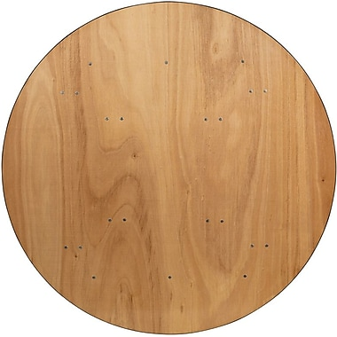 Flash Furniture 60'' Round Wood Folding Banquet Table with Clear Coated Finished Top, Plywood