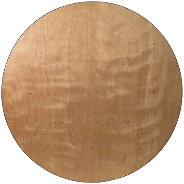 Flash Furniture 72'' Round Wood Folding Banquet Table with Clear Coated Finished Top, Plywood