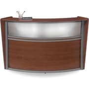 OFM Marque Single-Unit Plexi-Reception Station, Cherry