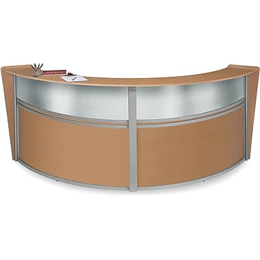 OFM Marque Double-Unit Plexi-Reception Station, Maple