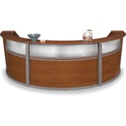 OFM Marque Triple-Unit Plexi-Reception Station, Cherry