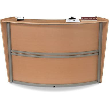 OFM Marque Single-Unit Reception Station, Maple