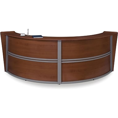 OFM Marque Double-Unit Reception Station, Cherry