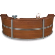 OFM Marque Triple-Unit Reception Station, Cherry