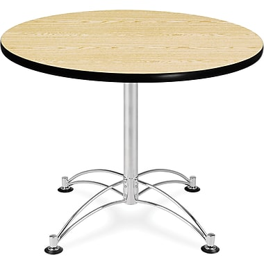 OFM 29 1/2in. x 36in. x 36in. Round Laminate Multi-Purpose Table, Oak