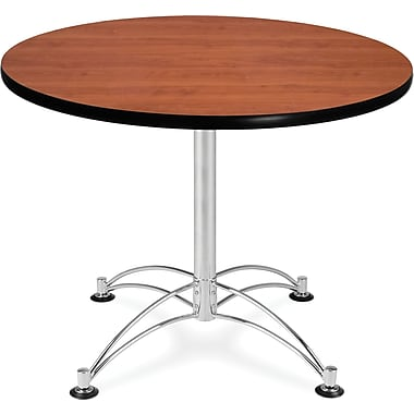 OFM 29 1/2in. x 36in. x 36in. Round Laminate Multi-Purpose Table, Cherry