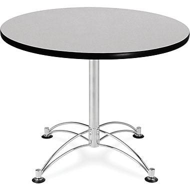 OFM 29 1/2in. x 36in. x 36in. Round Laminate Multi-Purpose Table, Gray Nebula