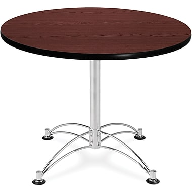 OFM 29 1/2in. x 36in. x 36in. Round Laminate Multi-Purpose Table, Mahogany
