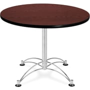 "OFM 29 1/2"" x 36"" x 36"" Round Laminate Multi-Purpose Table, Mahogany"