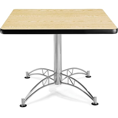 OFM 29 1/2in. x 36in. x 36in. Square Laminate Multi-Purpose Table, Oak