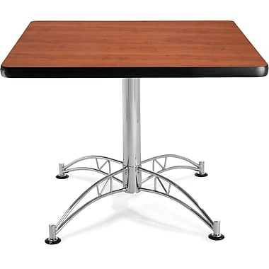 OFM 29 1/2in. x 36in. x 36in. Square Laminate Multi-Purpose Table, Cherry