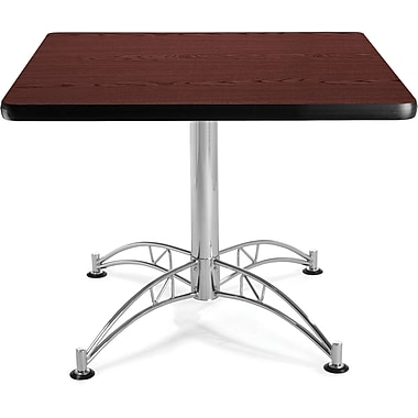 OFM 29 1/2in. x 36in. x 36in. Square Laminate Multi-Purpose Table, Mahogany