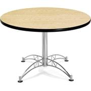 "OFM 29 1/2"" x 42 1/4"" x 42 1/4"" Round Laminate Multi-Purpose Table, Oak"