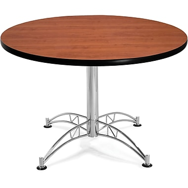 OFM 29 1/2in. x 42 1/4in. x 42 1/4in. Round Laminate Multi-Purpose Table, Cherry