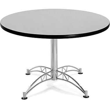 OFM 29 1/2in. x 42 1/4in. x 42 1/4in. Round Laminate Multi-Purpose Table, Gray Nebula