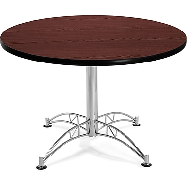 OFM 29 1/2in. x 42 1/4in. x 42 1/4in. Round Laminate Multi-Purpose Table, Mahogany