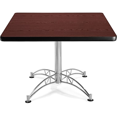 OFM 29 1/2in. x 42 1/4in. x 42 1/4in. Square Laminate Multi-Purpose Table, Mahogany