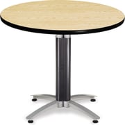 "OFM 29 1/2"" x 36"" x 36"" Round Laminate Mesh Base Multi-Purpose Table, Oak"