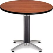"OFM 29 1/2"" x 36"" x 36"" Round Laminate Mesh Base Multi-Purpose Table, Cherry"