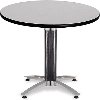 OFM 29 1/2in. x 36in. x 36in. Round Laminate Mesh Base Multi-Purpose Table, Gray Nebula