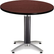 "OFM 29 1/2"" x 36"" x 36"" Round Laminate Mesh Base Multi-Purpose Table, Mahogany"